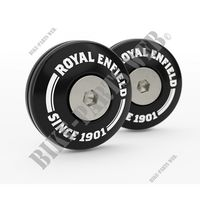 EMBOUTS FIXATIONS AMORTISSEURS ARRIERE NOIRS pour Royal Enfield INTERCEPTOR 650 TWIN EURO 4